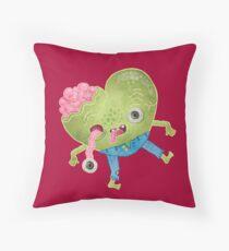 Zombie Heart Throw Pillow