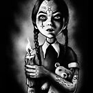 Tattooed Gothic Girl with candle by Marcus Jones
