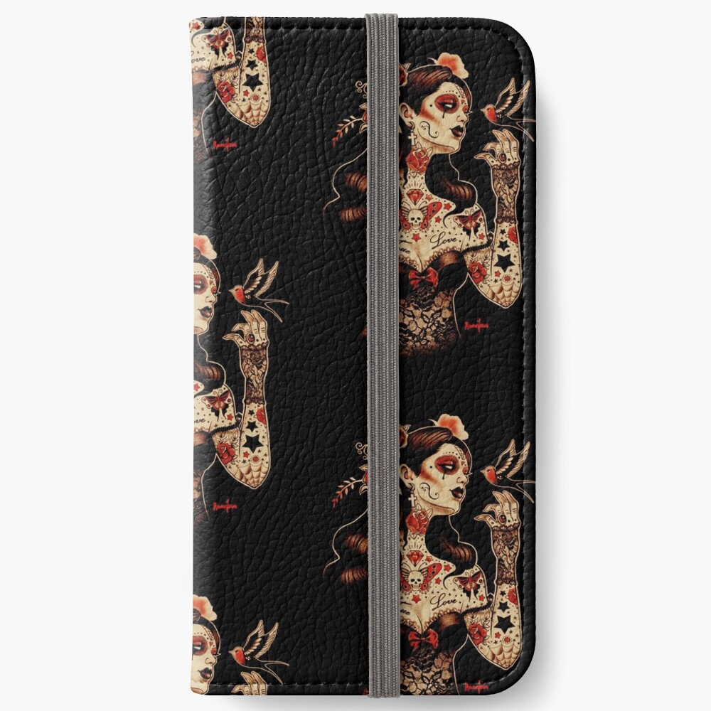 Day of the Dead Art, Day of the Dead Picture ,Dia De Los Muertos iPhone Wallet