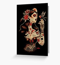 Day of the Dead Art, Day of the Dead Picture ,Dia De Los Muertos Greeting Card