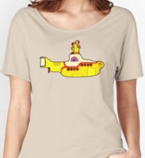 submarin yellow Women's Relaxed Fit T-Shirt