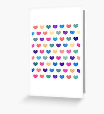 Colorful Cute Hearts Greeting Card