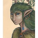 Hedge-Mother (Print with white border) by NadiaTurner