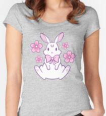 Sakura Bunny 02 Women's Fitted Scoop T-Shirt