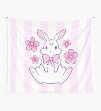 Sakura Bunny 02 Wall Tapestry