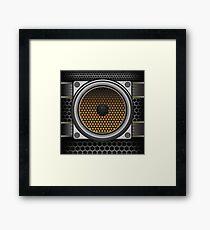 musical speaker Framed Print