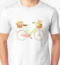 Rabbit On A Bike Bunny Lover Artistic Gift Emoji Unisex T-Shirt
