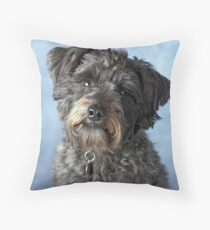 Bella the Schnoodle II Throw Pillow