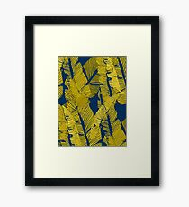 Carved Yellow & Blue Jungle #redbubble #decor #buyart Framed Print