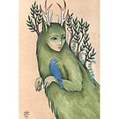 Forest Walker (Print with white border) by NadiaTurner