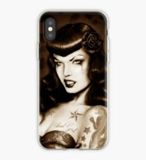 Bettie Page Tattooed iPhone Case
