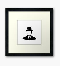 Man with bowler hat Framed Print