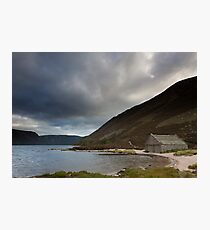 boathouse, loch muick Photographic Print
