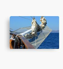 Detail of a ship on the sea Canvas Print