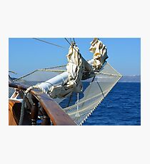 Detail of a ship on the sea Photographic Print