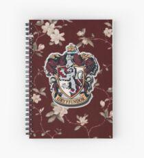 Gryffindor Floral Spiral Notebook
