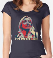 I'M WITH HER MARINE LE PEN  Women's Fitted Scoop T-Shirt