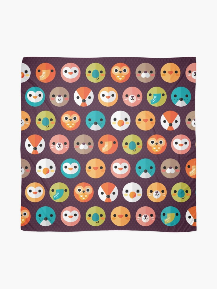 Alternate view of Smiley Faces Scarf