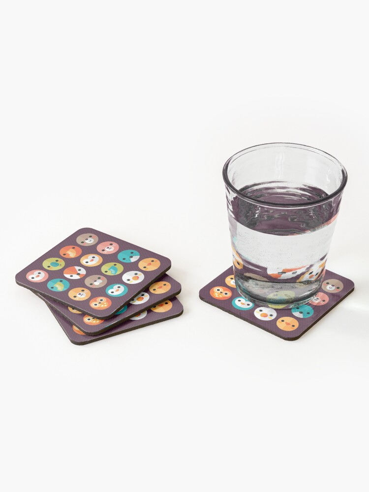 Alternate view of Smiley Faces Coasters (Set of 4)