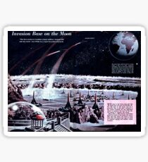 Space Infographic - Moonbase (1948) Sticker