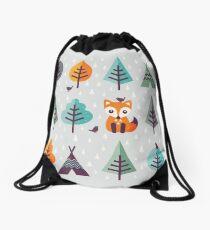 Fuchs im Wald - auf Grau Turnbeutel