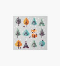 Fox in the Forest - on Gray Art Board