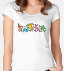 KEITH HARINGS 4 Women's Fitted Scoop T-Shirt