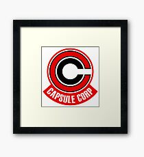 capsule corp red  Framed Print