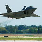F-22 Raptor High Speed Low Altitude pass by Paul Lenharr II