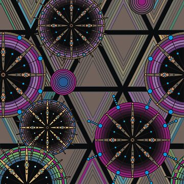 Bright pattern of circles and triangles by Nata-V