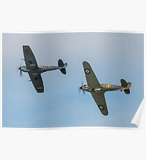 BBMF Hurricane and Spitfire Poster