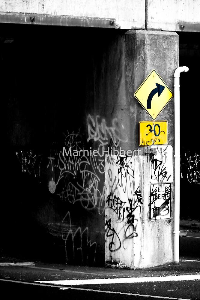 More graffiti 'round the corner by Marnie Hibbert