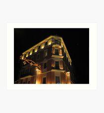 Magnificent hotel illuminated Art Print