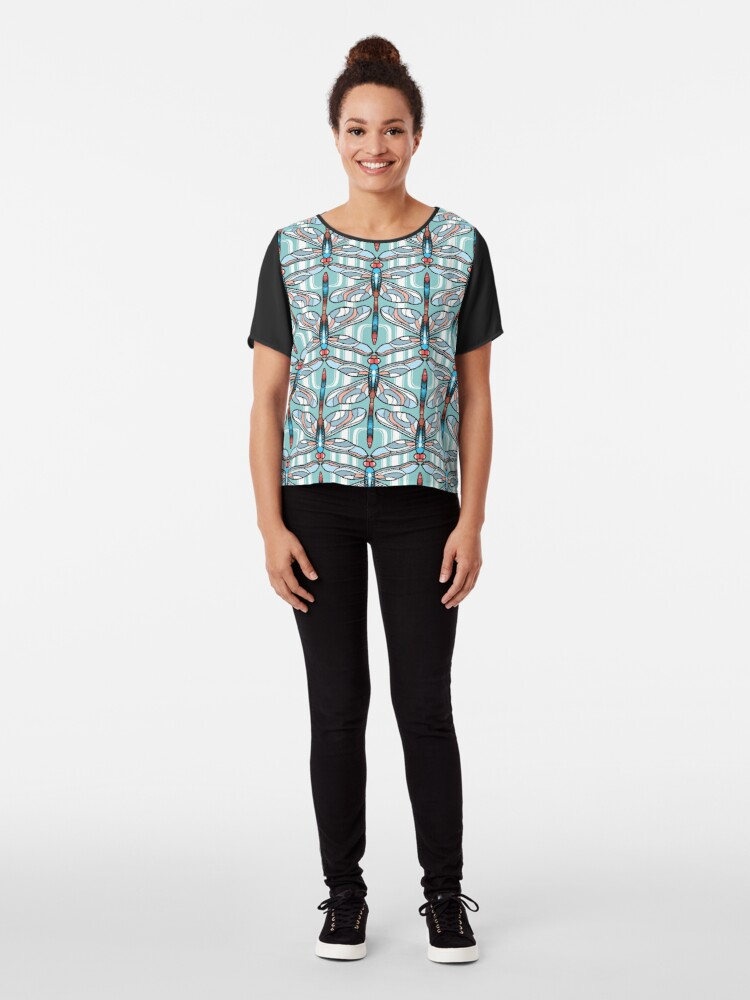 Alternate view of Dragonfly Chiffon Top