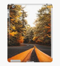 on the road in vermont iPad Case/Skin