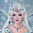 White blossom elf fantasy art by Renee L Lavoie by Renee Lavoie