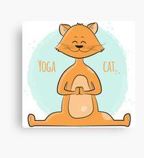 Yoga cat Canvas Print