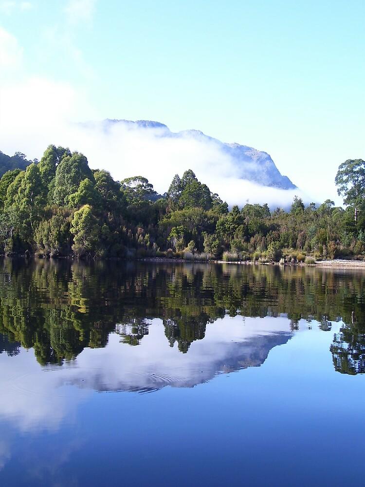 reflection of Mt Farrell, Tullah, Tasmania by gaylene
