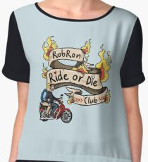 Robron - ride or die club (with flames) Chiffon Top