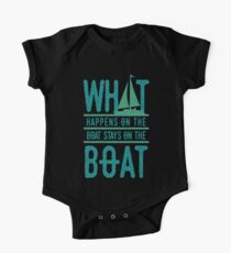 What Happens On The Boat One Piece - Short Sleeve