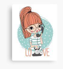Call me, Love Canvas Print