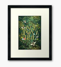 Bee Once Upon a Time Framed Print