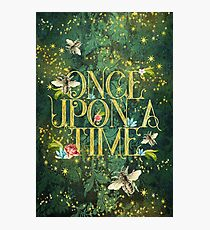 Bee Once Upon a Time Photographic Print