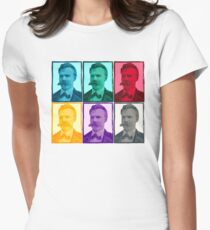 Friedrich Nietzsche colorful portrait pattern T-Shirt