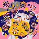Folk Flowers by Cristina Jucan
