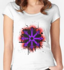 Choas symbol 1 Women's Fitted Scoop T-Shirt