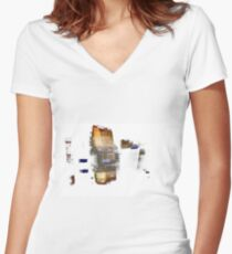Thoughts Women's Fitted V-Neck T-Shirt