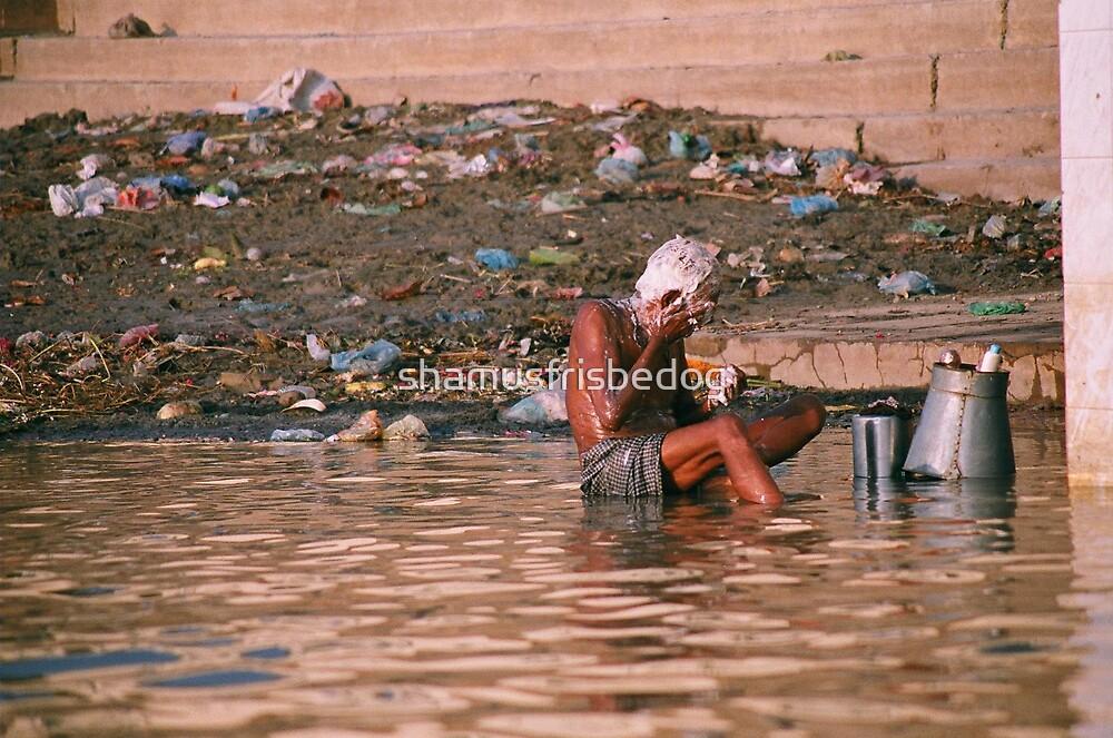 washy washy on the Ganga by shamusfrisbedog