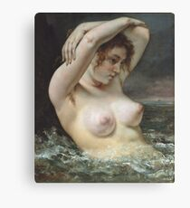 Gustave Courbet - The Woman In The Waves Canvas Print