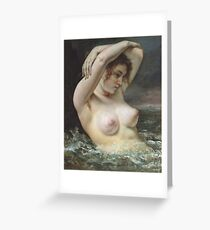Gustave Courbet - The Woman In The Waves Greeting Card